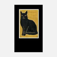 Black Cat Rectangle Decal