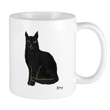 Black Cat Small Mug