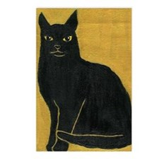 Black Cat Postcards (Package of 8)