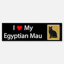 I Love My Egyptian Mau Bumper Bumper Bumper Sticker