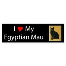 I Love My Egyptian Mau Bumper Bumper Sticker