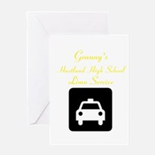 Granny's Limo Greeting Card