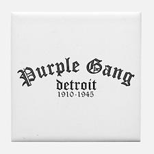 Purple Gang Tile Coaster