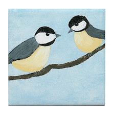 Chickadees Tile Coaster