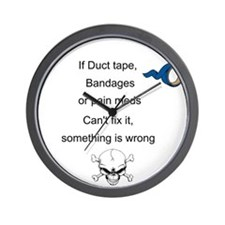 Something Is Wrong Wall Clock