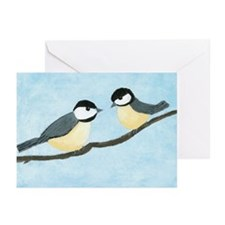 Chickadees Greeting Cards (Pk of 10)