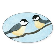 Chickadees Oval Decal