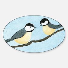 Chickadees Oval Decal