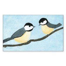 Chickadees Rectangle Decal