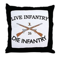 1st Bn 26th Infantry Throw Pillow