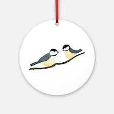 Chickadees Ornament (Round)