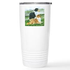 Rough Collie Pair w Tri Travel Mug