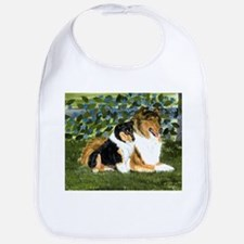 Rough Collie Mom and Pup Bib