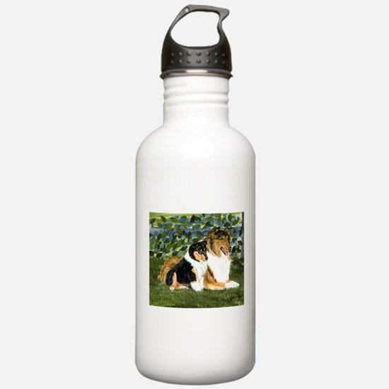 Rough Collie Mom and Pup Water Bottle