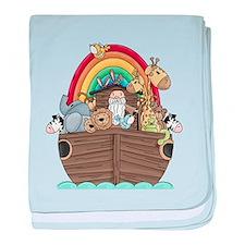 Noah's Ark and Rainbow baby blanket