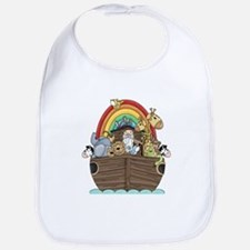 Noah's Ark and Rainbow Baby Bib