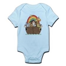 Noah's Ark and Rainbow Infant Bodysuit