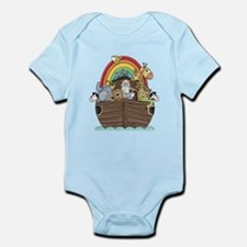 Noah's Ark and Rainbow Onesie