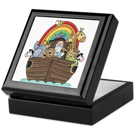 Noah's Ark and Rainbow Keepsake Box