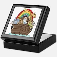 Noah's Ark and Rainbow Keepsake Box
