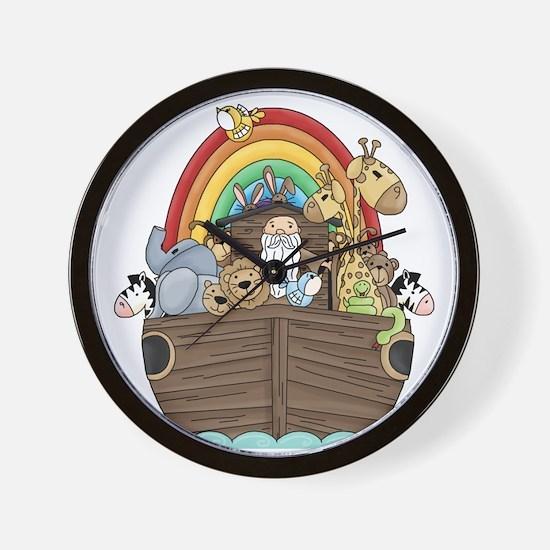Noah's Ark and Rainbow Wall Clock