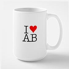 """""""I [love] AB"""" Mug"""