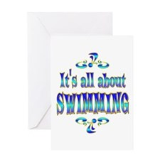 About Swimming Greeting Card