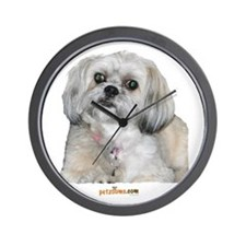 Cute Lhasa Apso Wall Clock