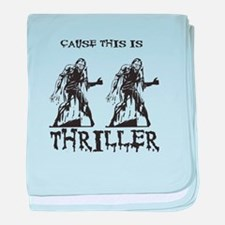 Thriller baby blanket