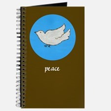 Peace Dove Journal (dark brown)