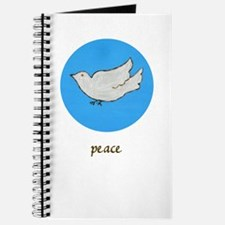 Peace Dove Journal (white)