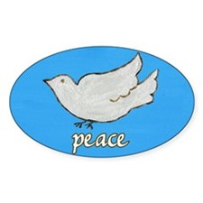 Peace Dove Oval Decal