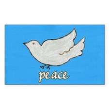 Peace Dove Rectangle Decal