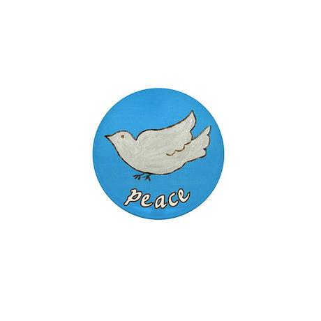 Peace Dove Mini Button (100 pack)