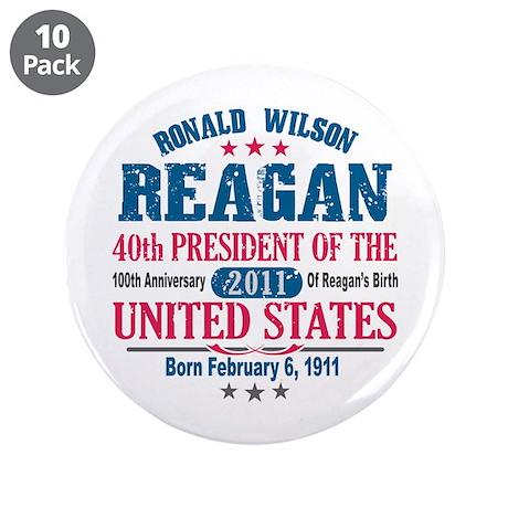 "Ronald Reagan 3.5"" Button (10 pack)"