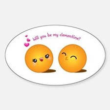 Be My Clementine Sticker (Oval)