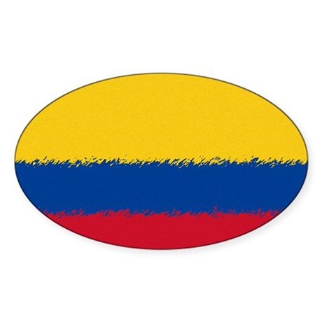 Colombian Flag Sticker (Oval)