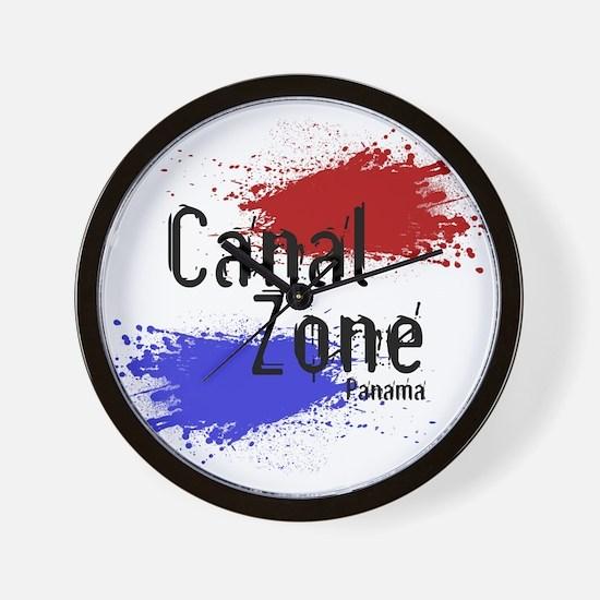 Stylized Panama Canal Zone Wall Clock