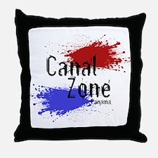 Stylized Panama Canal Zone Throw Pillow