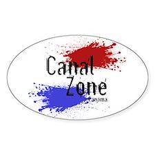 Stylized Panama Canal Zone Decal