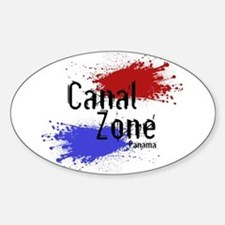 Stylized Panama Canal Zone Sticker (Oval)