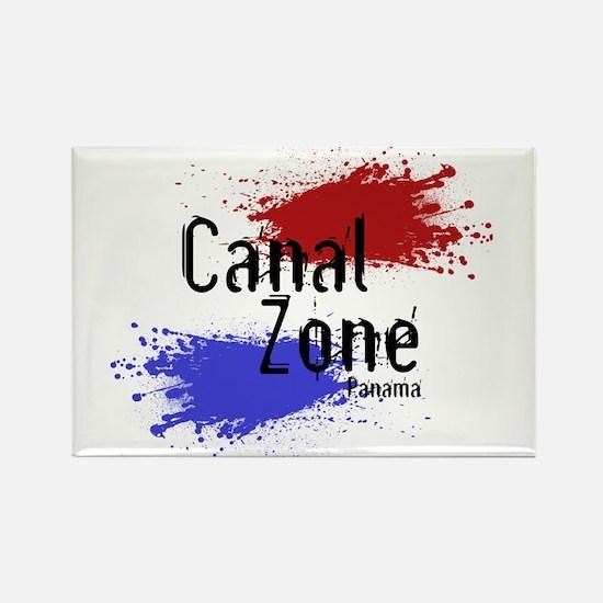 Stylized Panama Canal Zone Rectangle Magnet