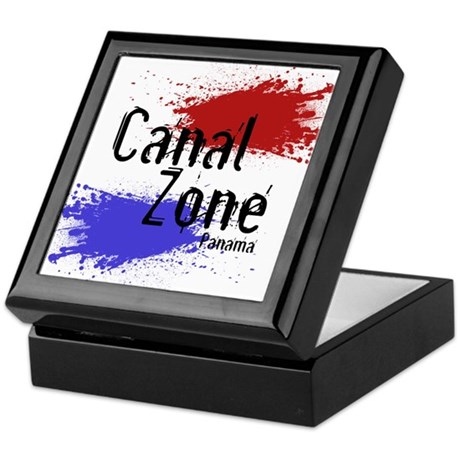 Stylized Panama Canal Zone Keepsake Box