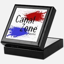 Stylized Panama Canal Zone Keepsake Box