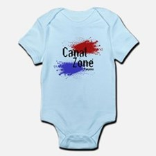 Stylized Panama Canal Zone Infant Bodysuit