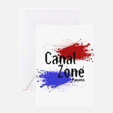 Stylized Panama Canal Zone Greeting Card