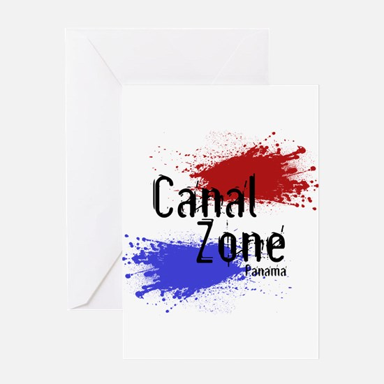 Stylized Panama Canal Zone Greeting Card