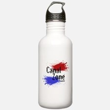 Stylized Panama Canal Zone Water Bottle