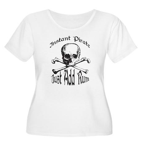 Instant Pirate Women's Plus Size Scoop Neck T-Shir
