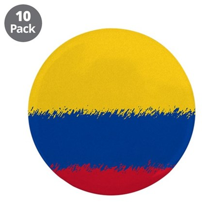 """Colombian Flag 3.5"""" Button (10 pack)"""